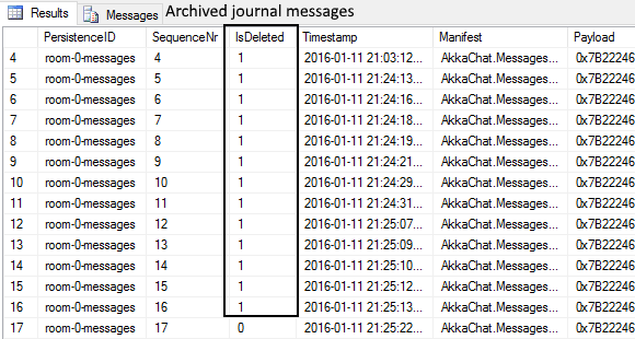 SQL Server Akka.Persistence Journal